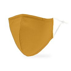 Adult Reusable, Washable 3 Ply Cloth Face Mask With Filter Pocket - Golden Yellow