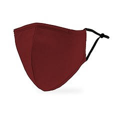 Adult Reusable, Washable 3 Ply Cloth Face Mask With Filter Pocket - Dark Red