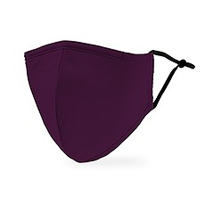 Adult Reusable, Washable 3 Ply Cloth Face Mask With Filter Pocket - Dark Purple