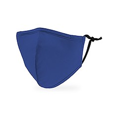 Kid's Reusable, Washable Cloth Face Mask With Filter Pocket - Royal Blue