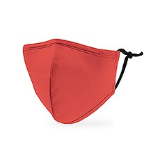 Kid's Reusable, Washable 3 Ply Cloth Face Mask With Filter Pocket - Hot Coral