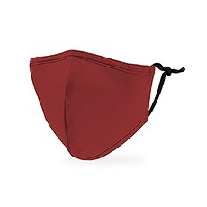 Kid's Reusable, Washable 3 Ply Cloth Face Mask With Filter Pocket - Dark Red