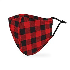 Adult Reusable, Washable 3 Ply Cloth Face Mask With Filter Pocket - Buffalo Plaid