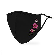 Adult Reusable, Washable 3 Ply Cloth Face Mask With Filter Pocket - Simple Floral