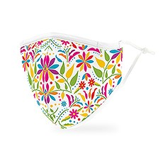 Adult Reusable, Washable 3 Ply Cloth Face Mask With Filter Pocket - Fiesta Floral