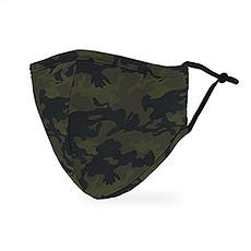 Adult Reusable, Washable 3 Ply Cloth Face Mask With Filter Pocket - Camo
