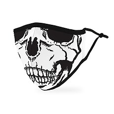 Adult Protective Cloth Face Mask - Skull