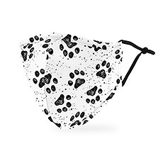 Adult Reusable, Washable 3 Ply Cloth Face Mask With Filter Pocket - Paw Prints