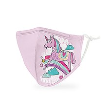 Kid's Reusable, Washable 3 Ply Cloth Face Mask With Filter Pocket - Unicorn Magic