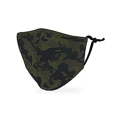 Kid's Reusable, Washable Cloth Face Mask With Filter Pocket - Camo