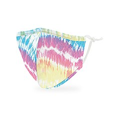 Kid's Reusable, Washable 3 Ply Cloth Face Mask With Filter Pocket - Tie Dye