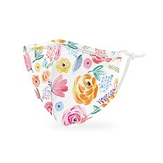 Kid's Reusable, Washable 3 Ply Cloth Face Mask With Filter Pocket - Watercolor Rose
