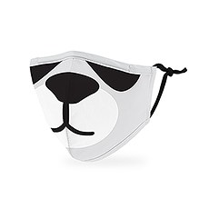 Kid's Reusable, Washable 3 Ply Cloth Face Mask With Filter Pocket - Panda