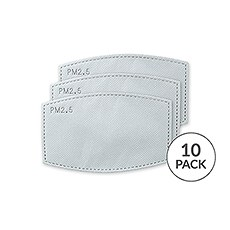 Adult PM 2.5 Protective Mask Filters - Pack of 10
