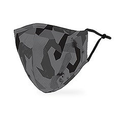 Adult Reusable, Washable 3 Ply Cloth Face Mask With Filter Pocket - Modern Black Camo