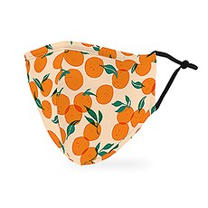 Adult Reusable, Washable 3 Ply Cloth Face Mask With Filter Pocket - Orange
