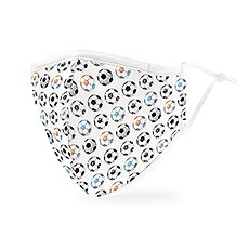 Adult Reusable, Washable 3 Ply Cloth Face Mask With Filter Pocket - Soccer