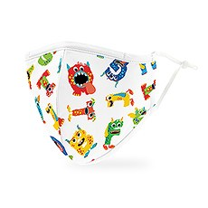 Adult Reusable, Washable 3 Ply Cloth Face Mask With Filter Pocket - Alphabet