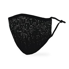 Adult Reusable, Washable 3 Ply Cloth Face Mask With Filter Pocket - Binary Code