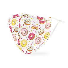 Adult Reusable, Washable 3 Ply Cloth Face Mask With Filter Pocket - Donuts