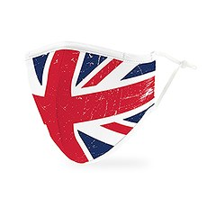 Adult Reusable, Washable 3 Ply Cloth Face Mask With Filter Pocket - Great Britain
