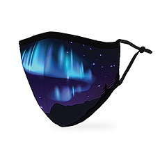 Adult Reusable, Washable 3 Ply Cloth Face Mask With Filter Pocket - Northern Lights