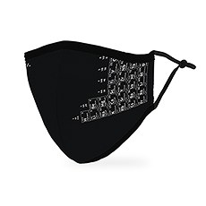 Adult Reusable, Washable Cloth Face Mask With Filter Pocket - Periodic Table