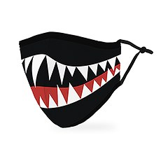 Adult Reusable, Washable 3 Ply Cloth Face Mask With Filter Pocket - Monster Mouth