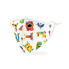 Kid's Reusable, Washable 3 Ply Cloth Face Mask With Filter Pocket - Alphabet