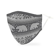 Adult Reusable, Washable 3 Ply Cloth Face Mask With Filter Pocket - Nordic Polar Bears