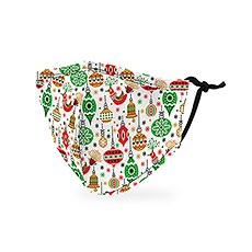 Kid's Reusable, Washable 3 Ply Cloth Face Mask With Filter Pocket - Retro Ornaments