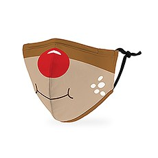 Kid's Reusable, Washable 3 Ply Cloth Face Mask With Filter Pocket - Rudolph