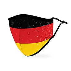 Adult Reusable, Washable 3 Ply Cloth Face Mask With Filter Pocket - German Flag