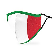 Adult Reusable, Washable 3 Ply Cloth Face Mask With Filter Pocket - Italian Flag