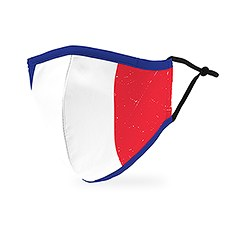 Adult Reusable, Washable 3 Ply Cloth Face Mask With Filter Pocket - France Flag