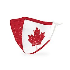 Kid's Reusable, Washable 3 Ply Cloth Face Mask With Filter Pocket - Canadian Flag