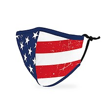 Kid's Reusable, Washable Cloth Face Mask With Filter Pocket - American Flag