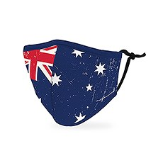 Kid's Reusable, Washable 3 Ply Cloth Face Mask With Filter Pocket - Australian Flag