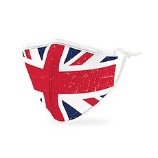 Kid's Reusable, Washable 3 Ply Cloth Face Mask With Filter Pocket - Great Britain Flag