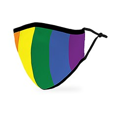Adult Reusable, Washable 3 Ply Cloth Face Mask With Filter Pocket - Pride Flag