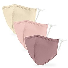 Variety 3-Pack Kid's Reusable, Washable 3 Ply Cloth Face Masks with Filter Pockets - Pretty In Paste