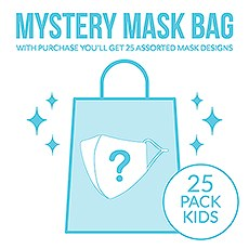 Variety 25-Pack Kid's Reusable, Washable 3 Ply Cloth Face Masks With Filter Pockets - Mystery Pack