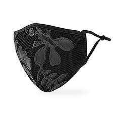 Luxury Adult Reusable, Washable Cloth Face Mask With Filter Pocket - Leather & Lace