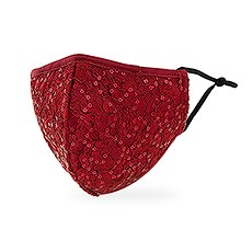 Luxury Adult Reusable, Washable Cloth Face Mask With Filter Pocket - Ruby Red