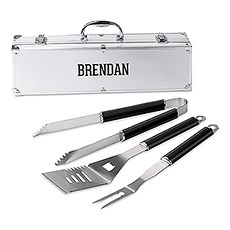 Custom Stainless Steel BBQ Tools Grill Set - Collegiate