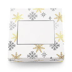 Large Falling Snowflakes Christmas Gift Box with Magnetic Lid