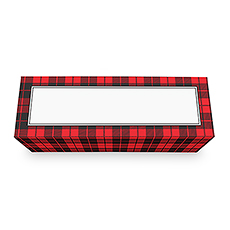 Buffalo Plaid Wine Gift Box with Magnetic Lid