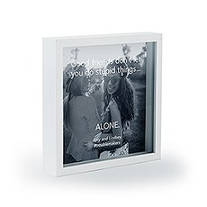 Personalized Square Shadow Box Picture Frame- Good Friends Etching