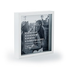 Personalized Square Shadow Box Picture Frame- Beach Memories Etching