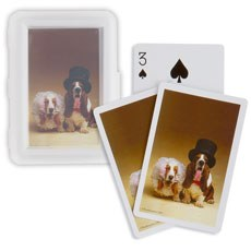 Funny Bride and Groom Dog Pack of Cards Favors